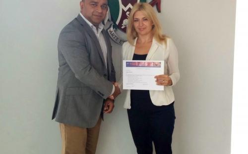 Tenth ECESM meeting - recipient of CISCO certificate